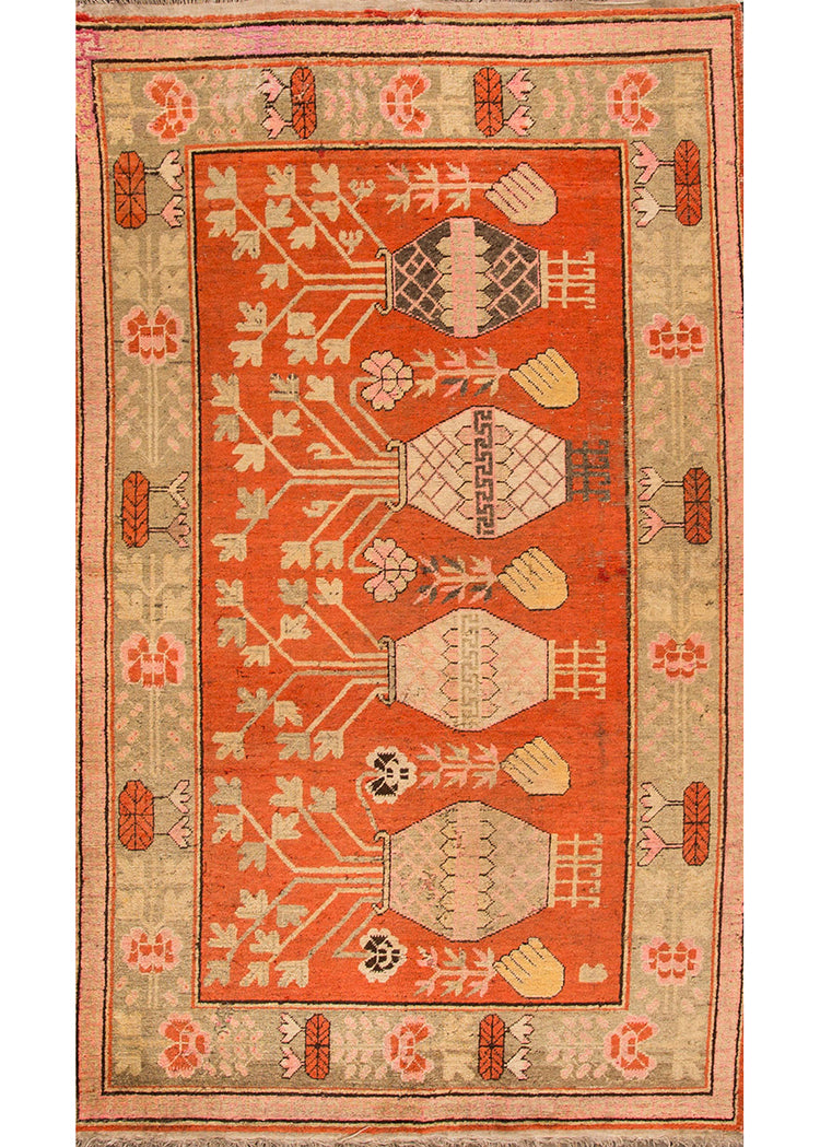 Antique Turkish Rug, 5X9