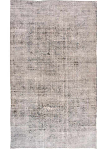 Distressed antique Kerman Rug, 10X18