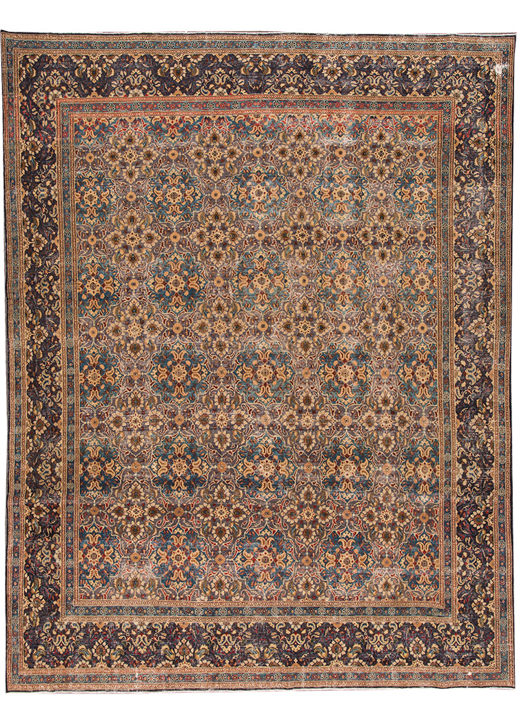 Antique Tabriz Rug, 9X13
