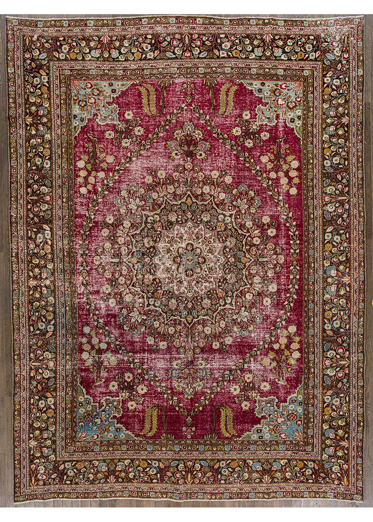 Antique Mashad Rug, 10X14