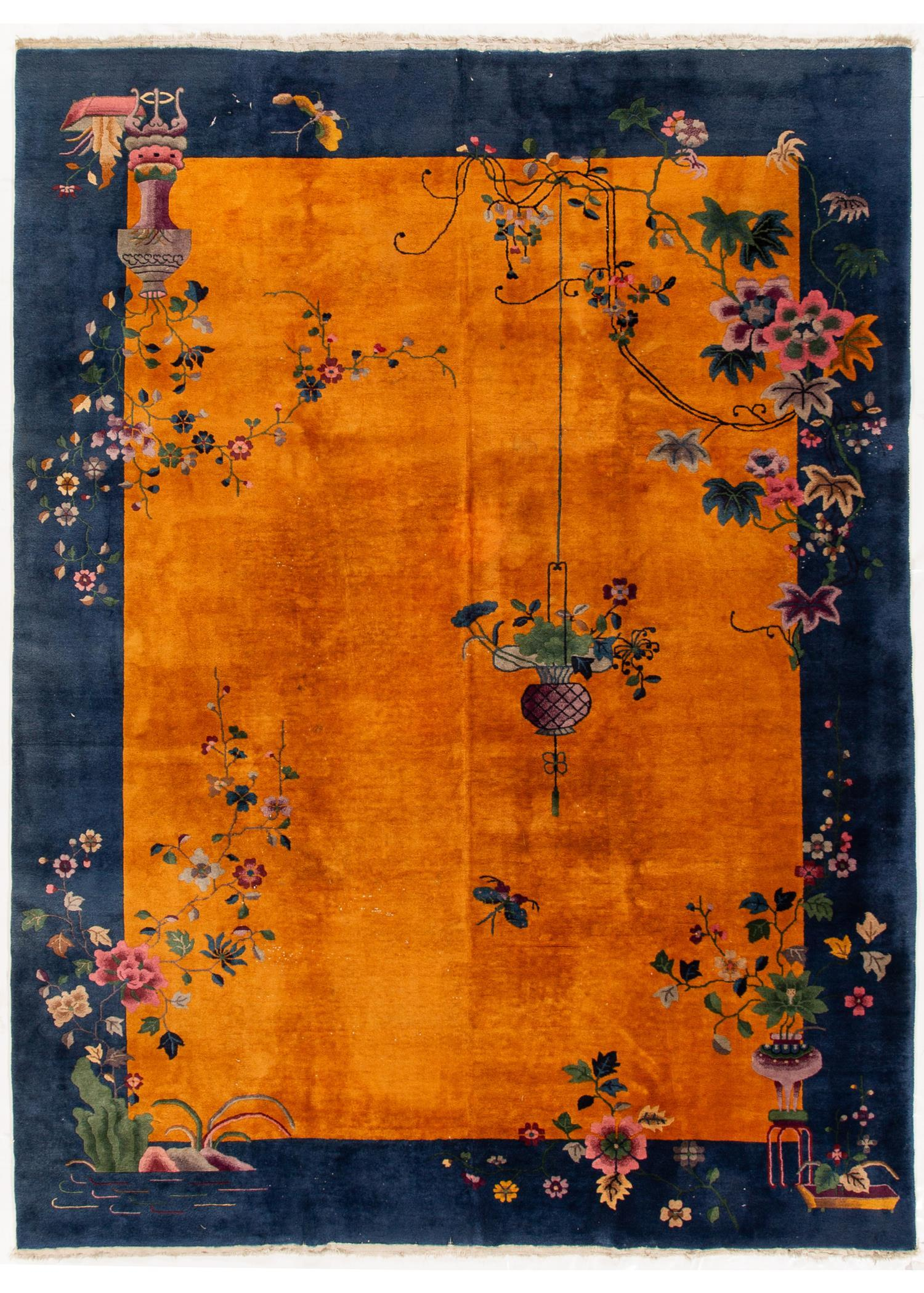 Antique Chinese Rug, 9X12