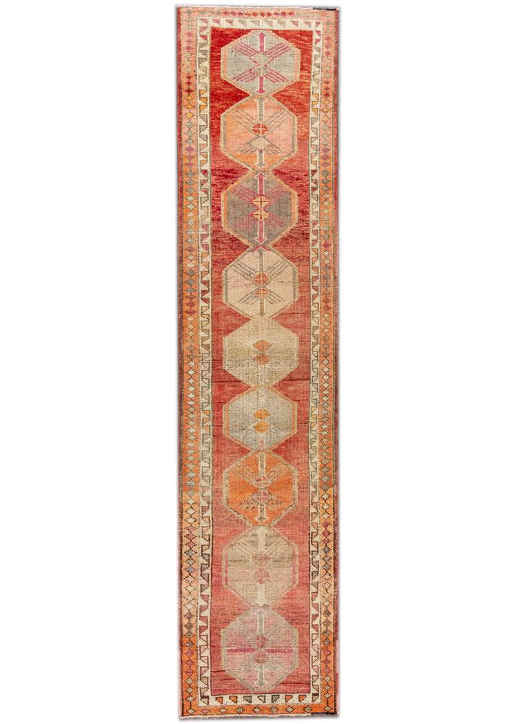 Beautiful Turkish Runner Rug, 3 x 13