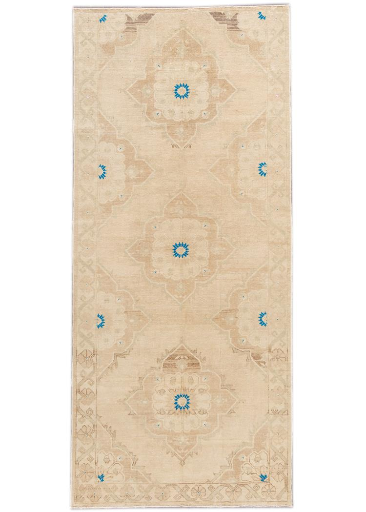 Beautiful Turkish Runner Rug, 5' x 11'