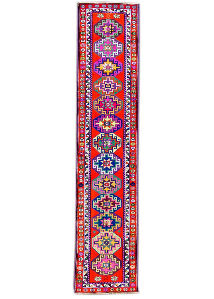 Beautiful Turkish Runner Rug, 3' x 12'