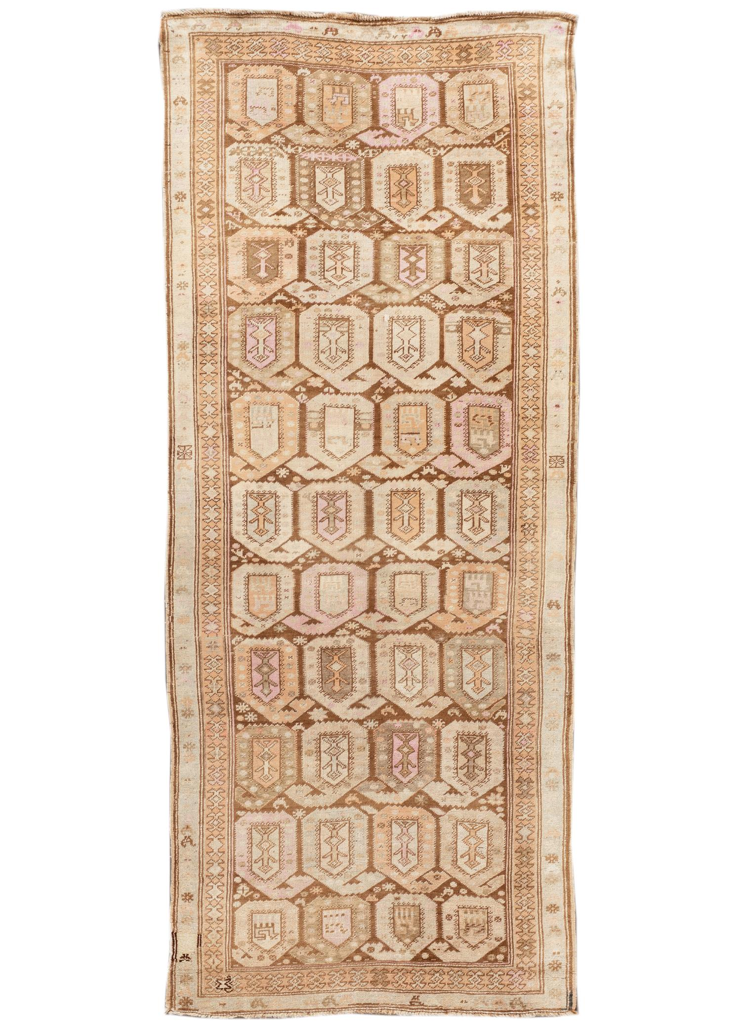 Antique Karabaugh Rug, #10235254, 4' x 10'