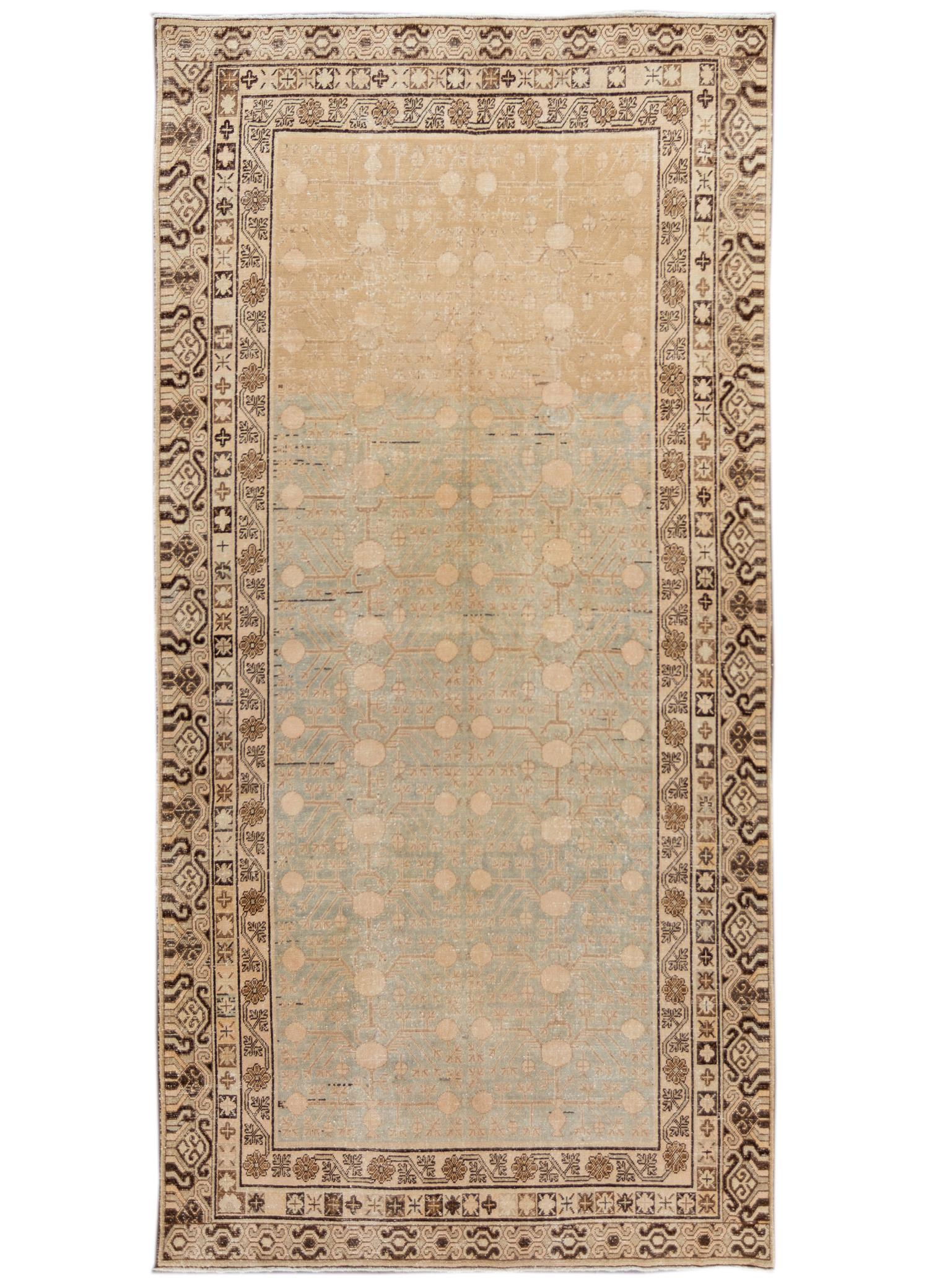 Antique Khotan Runner, #10235255, 6' x 12'