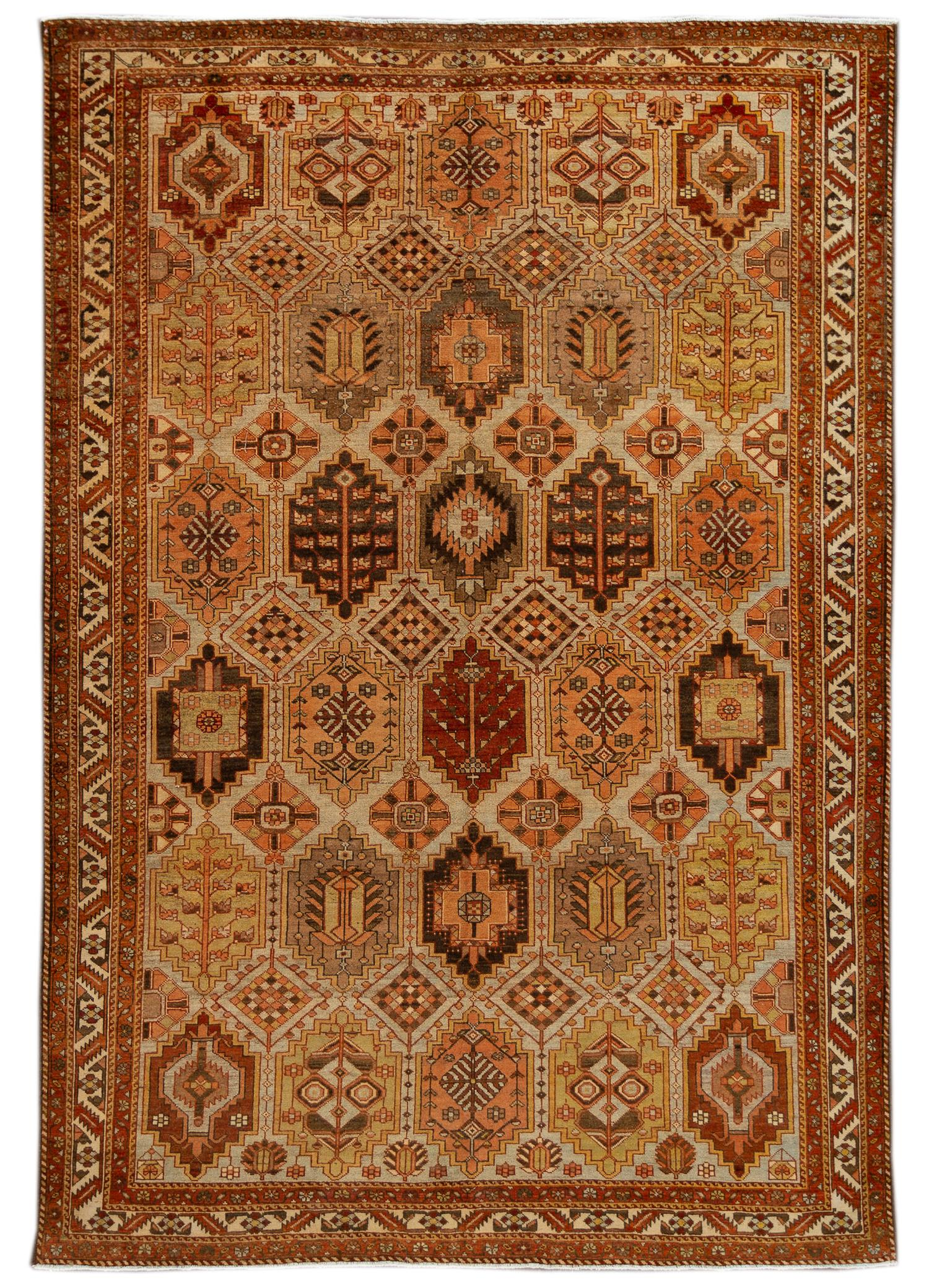 Antique Bakhtiari Rug,  7' x 10'