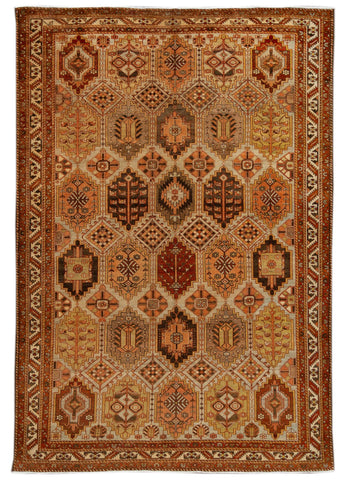 Antique Bakhtiari Rug, #10235261, 7' x 10'