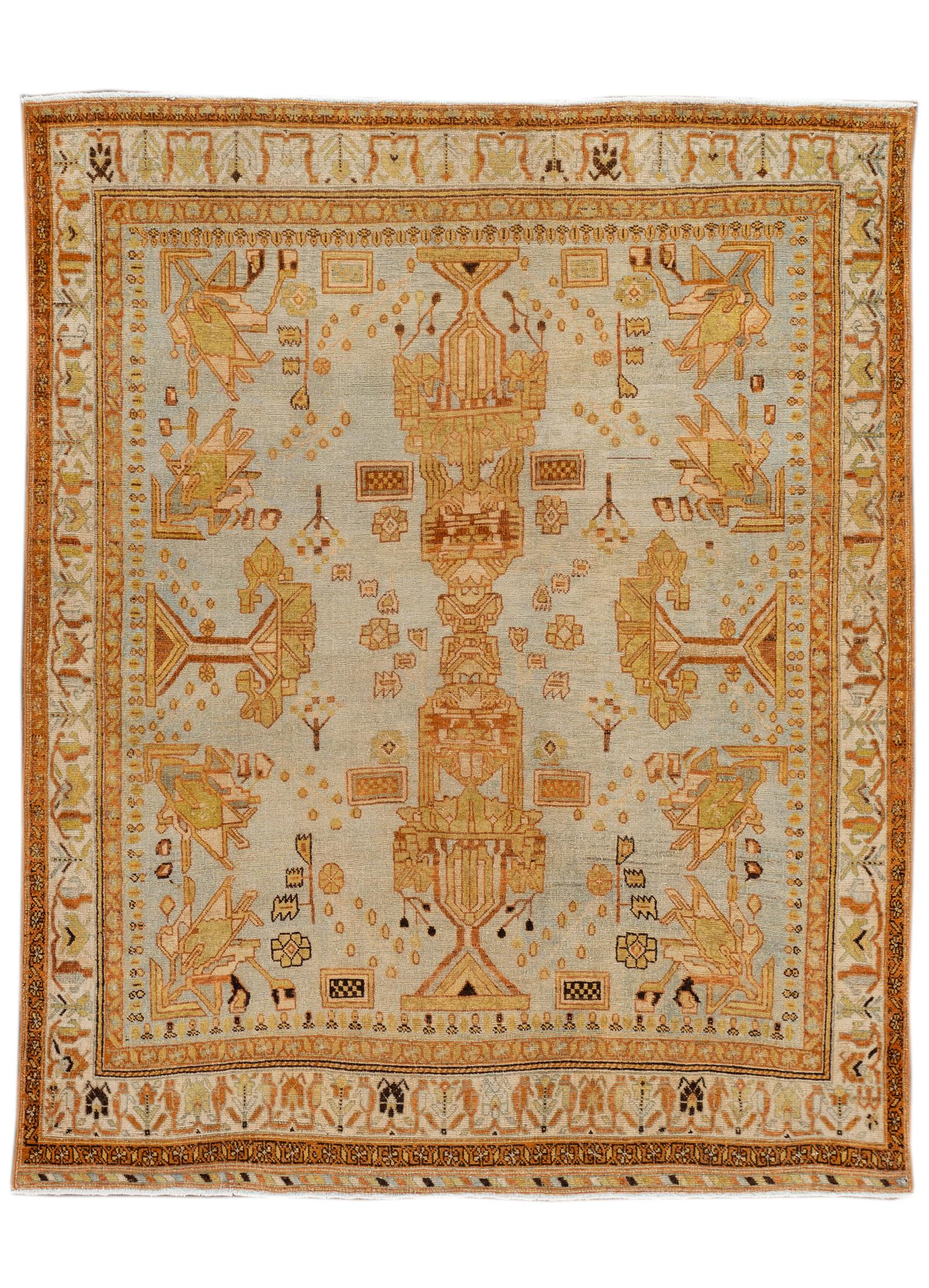 Antique Afshar Rug, #10235262, 5' x 6'
