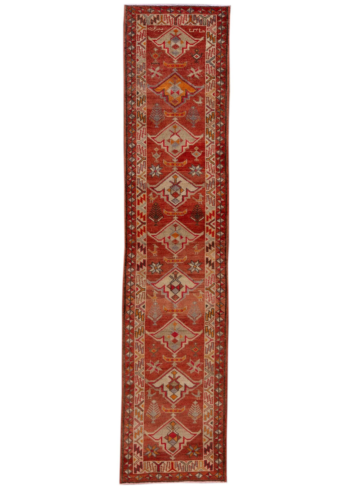 Early 20th Century  Anatolian Village Runner Rug 3' x 13'
