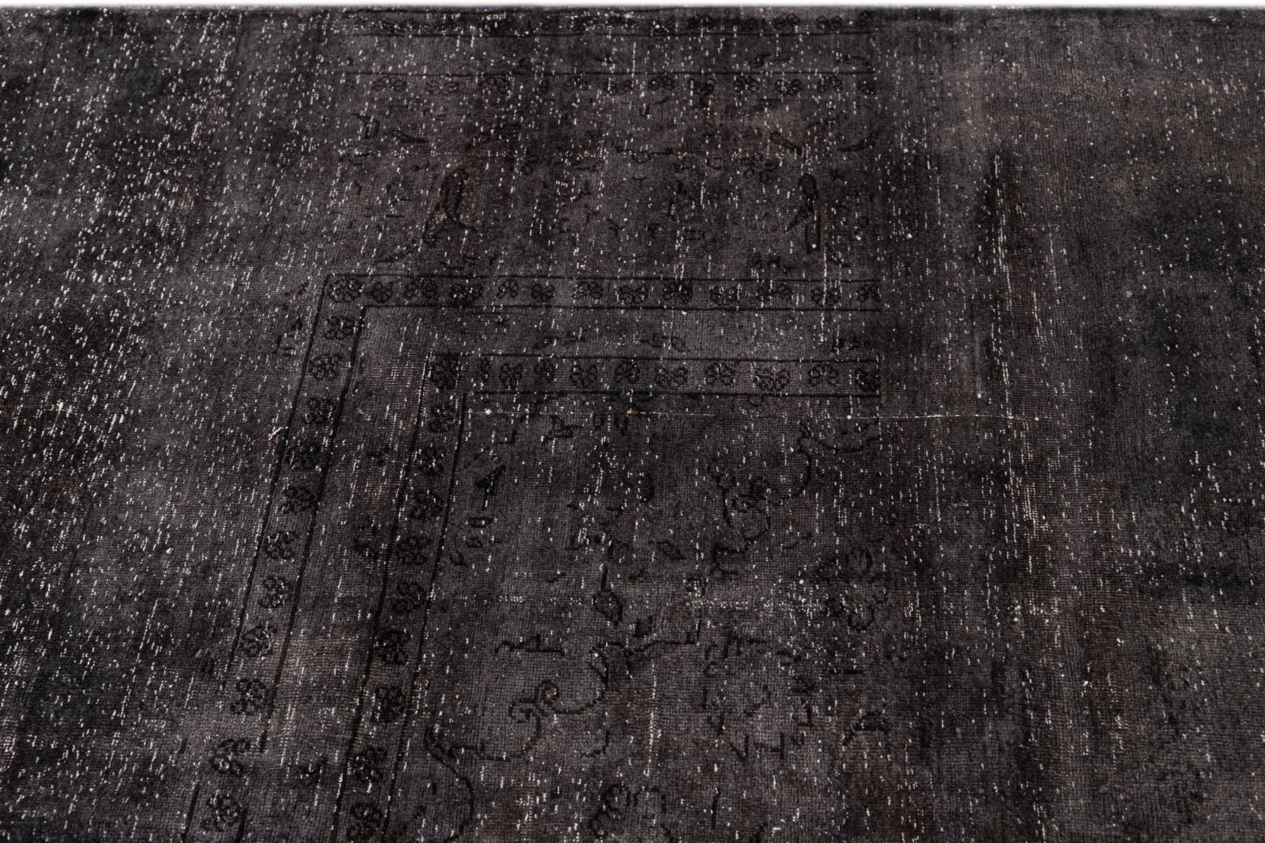 Vintage Distressed Overdyed Rug, 10x13