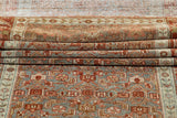 Antique Blue & Rust Persian Malayer Wool Runner Rug, 3' x 16'