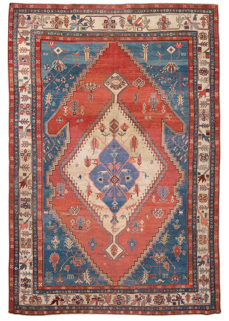 Late 19th Century Antique Bakshaeish Rug 8' x 10'