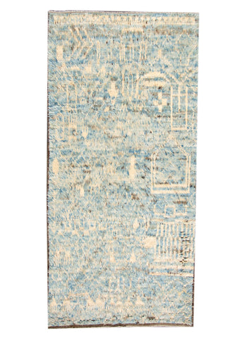 Modern Moroccan-style Rug, 6X12