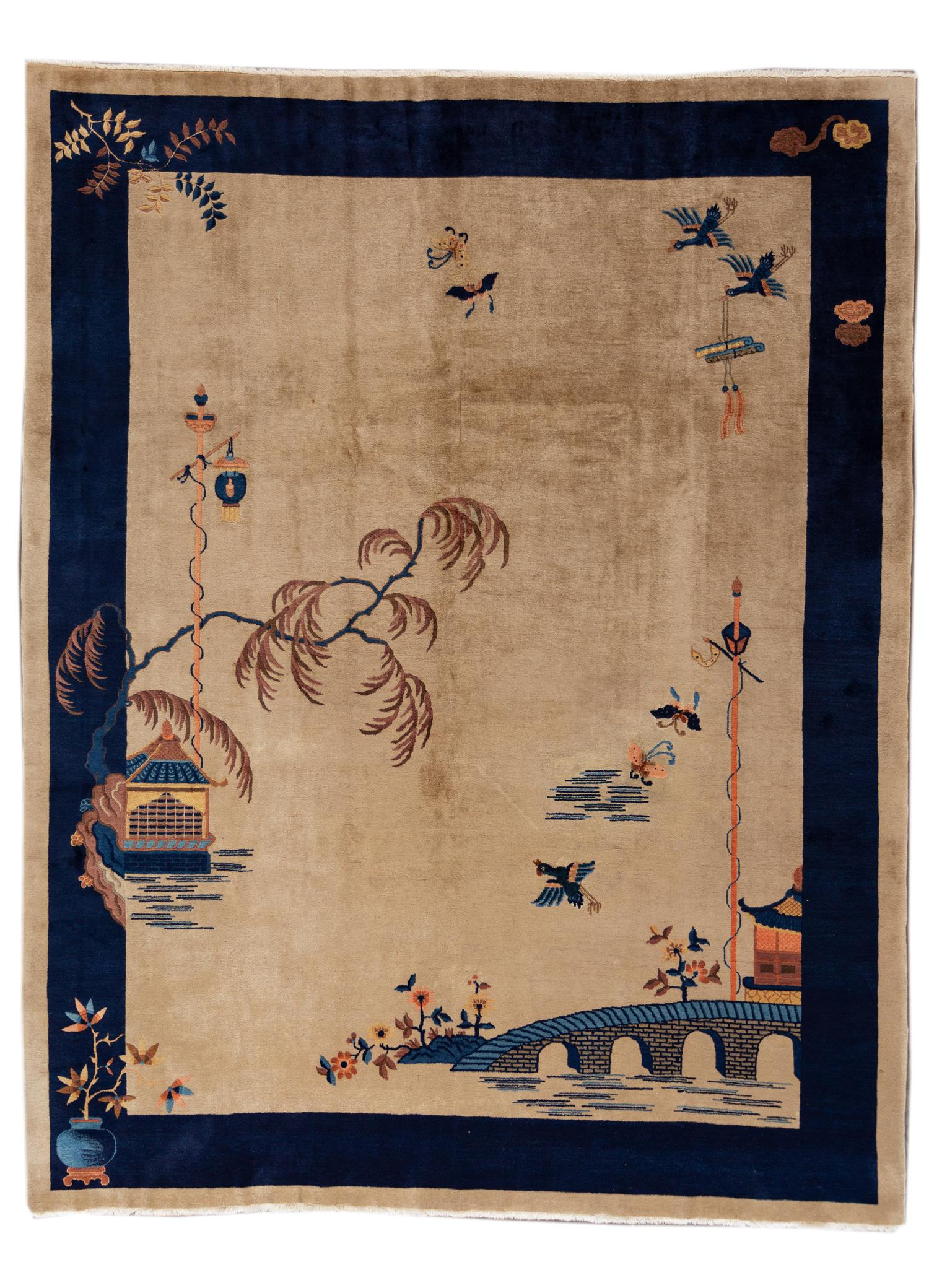 Antique Chinese Peking Rug, 9x12