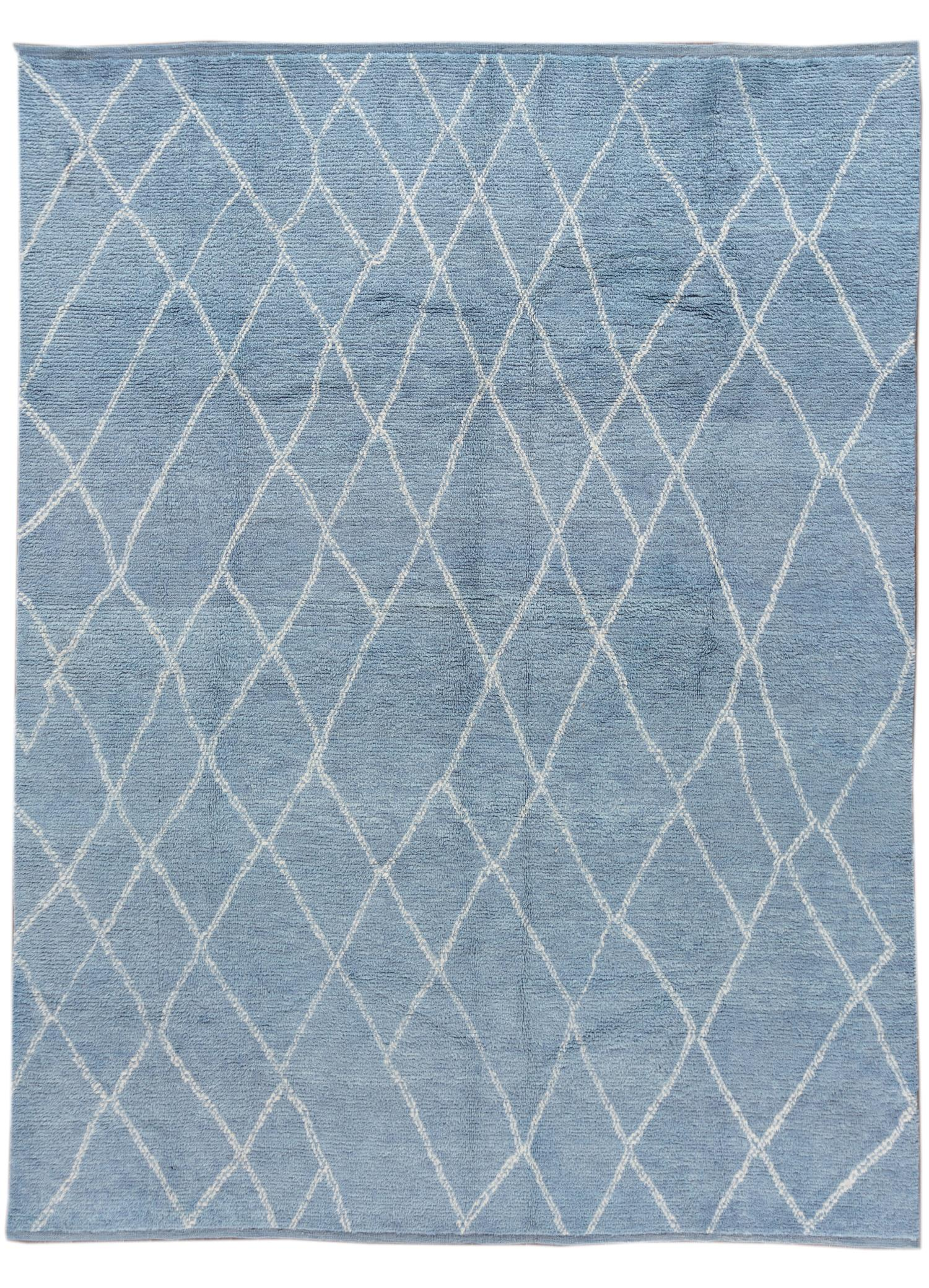 21st Century Modern Moroccan-style Rug, 9' x 12'