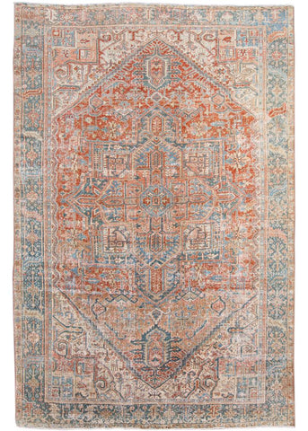 Early 20th Century Antique Persian Heriz Rug 8' x 11'