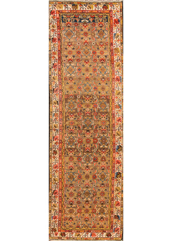 Antique Hamadan Rug, 3X14