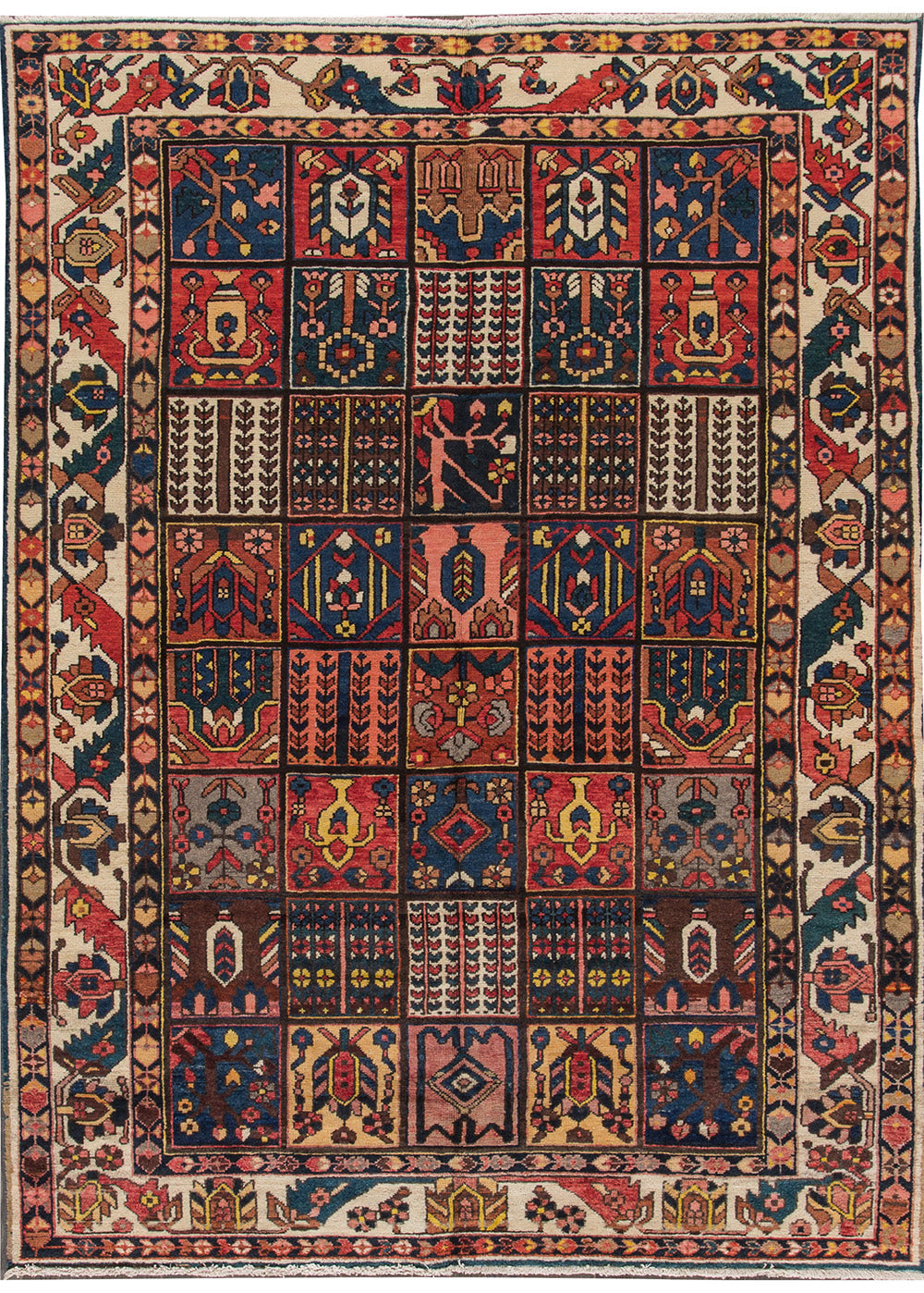 Antique Bakhtiari Rug, 6X10