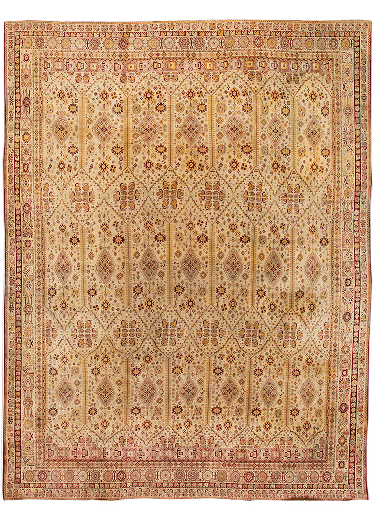 Antique Agra Rug, 14X16