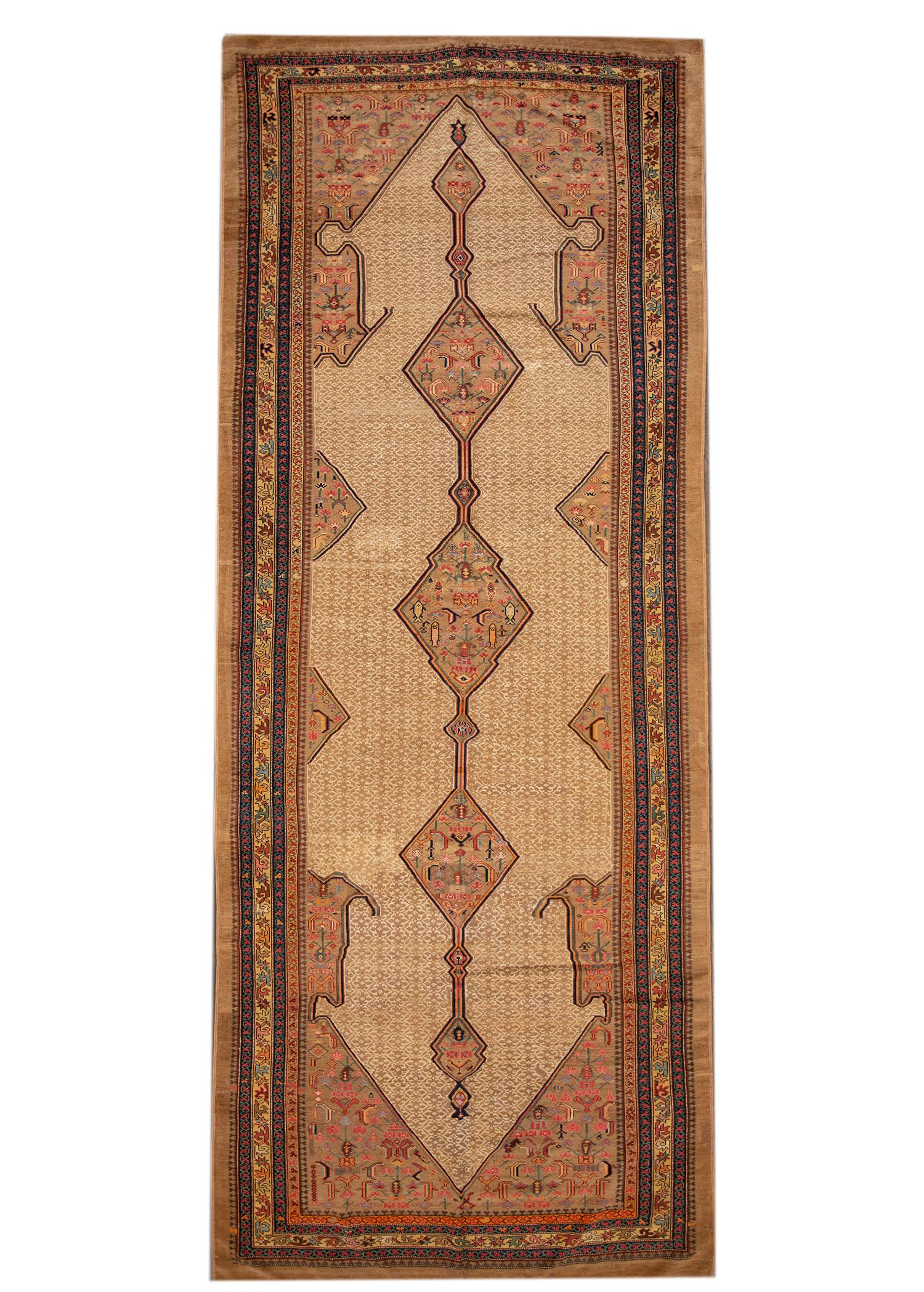 Antique Serab Rug, 7 x 17
