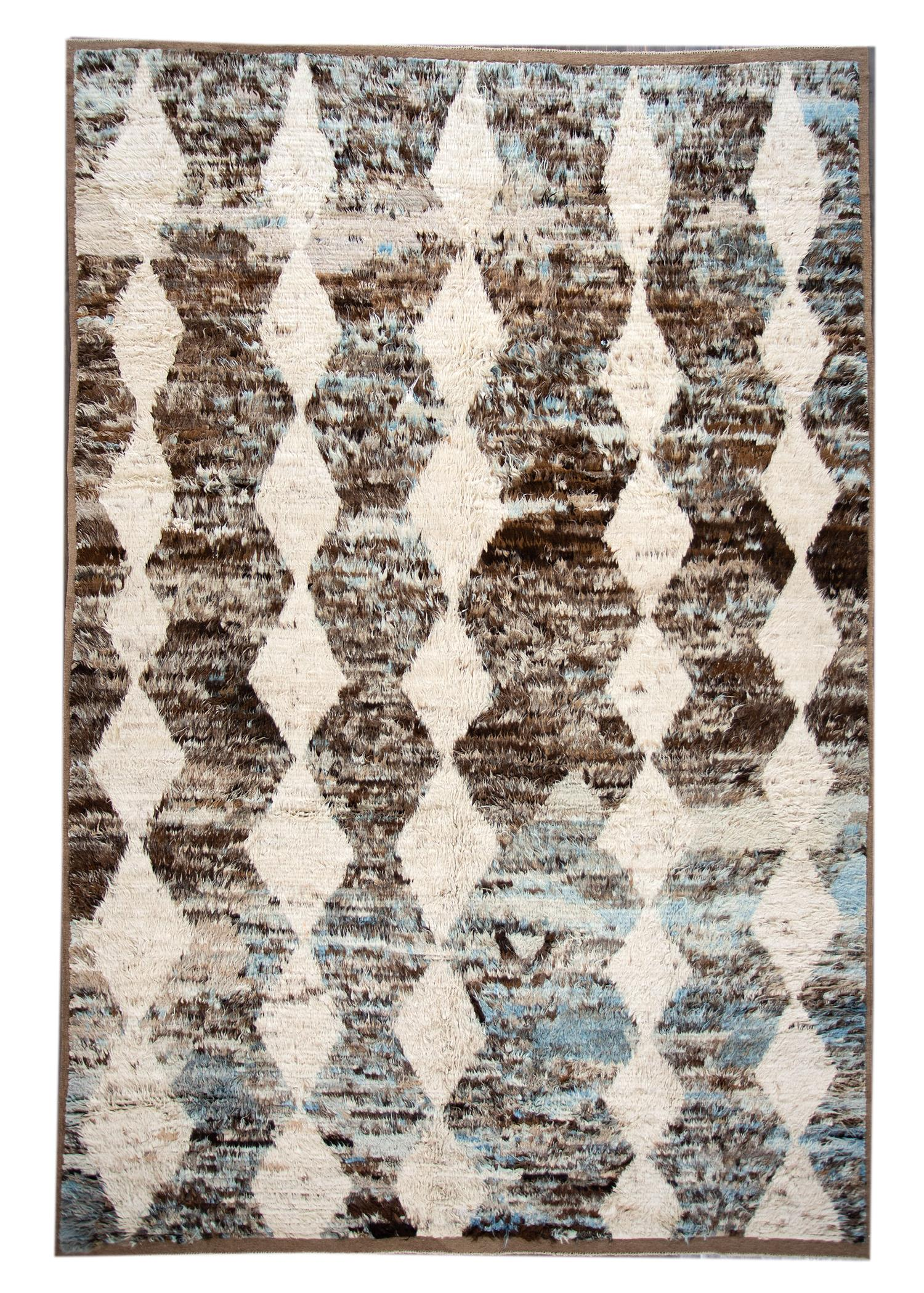 Modern Moroccan-style Rug, 11X16