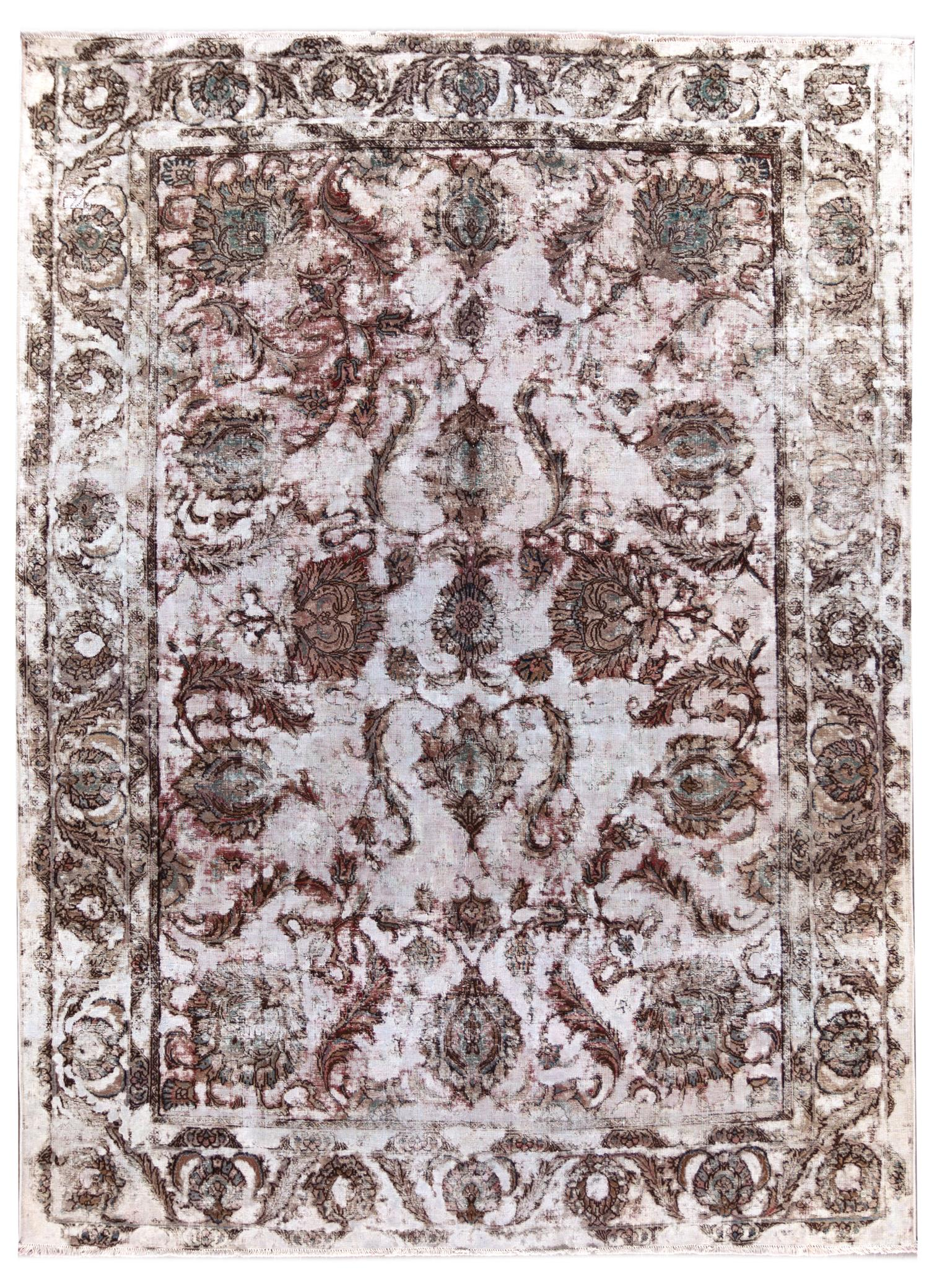 Vintage Distressed Overdyed Rug, 9x13