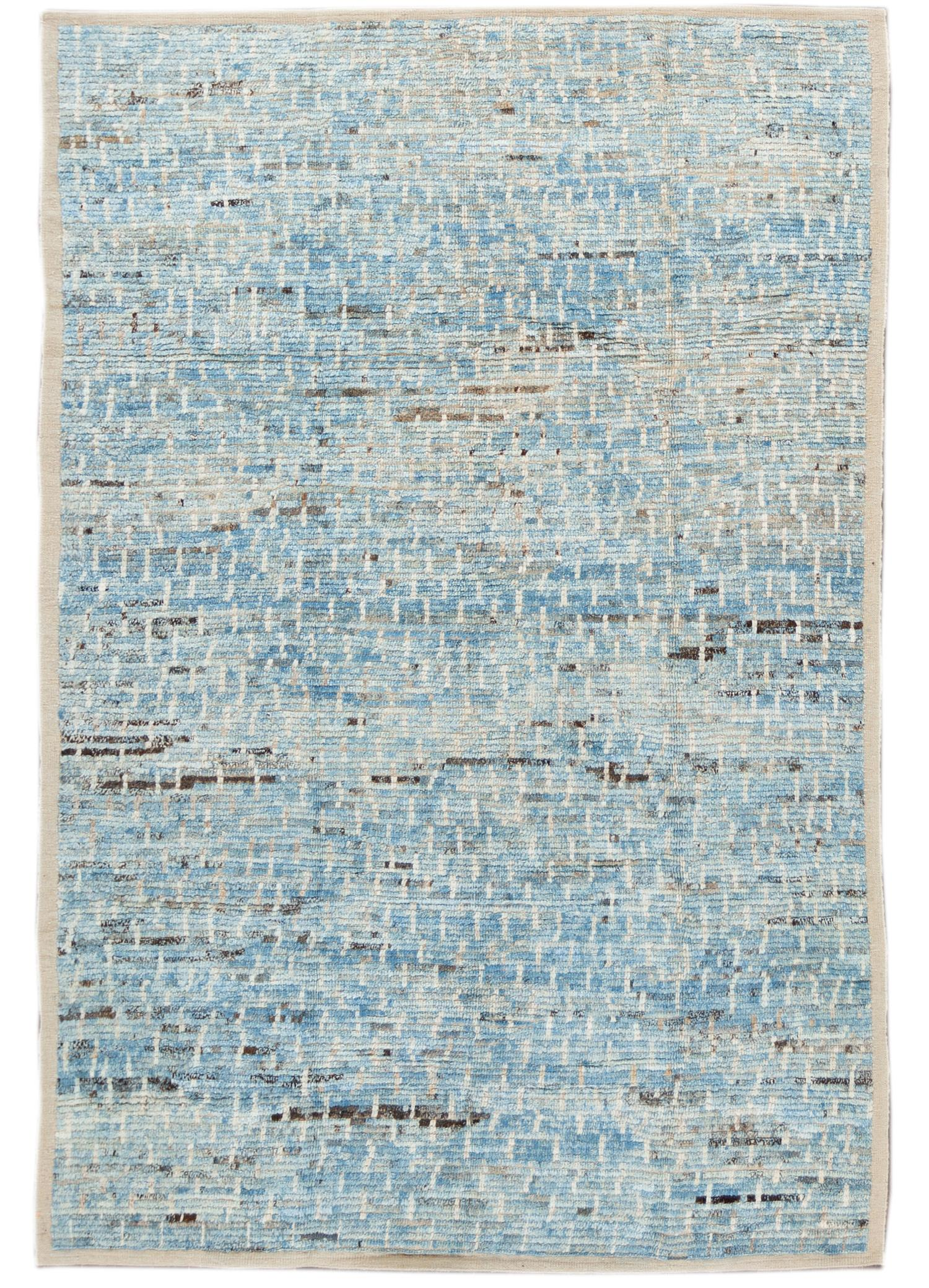 21st Century Modern Moroccan-style Rug, 6' x 9'