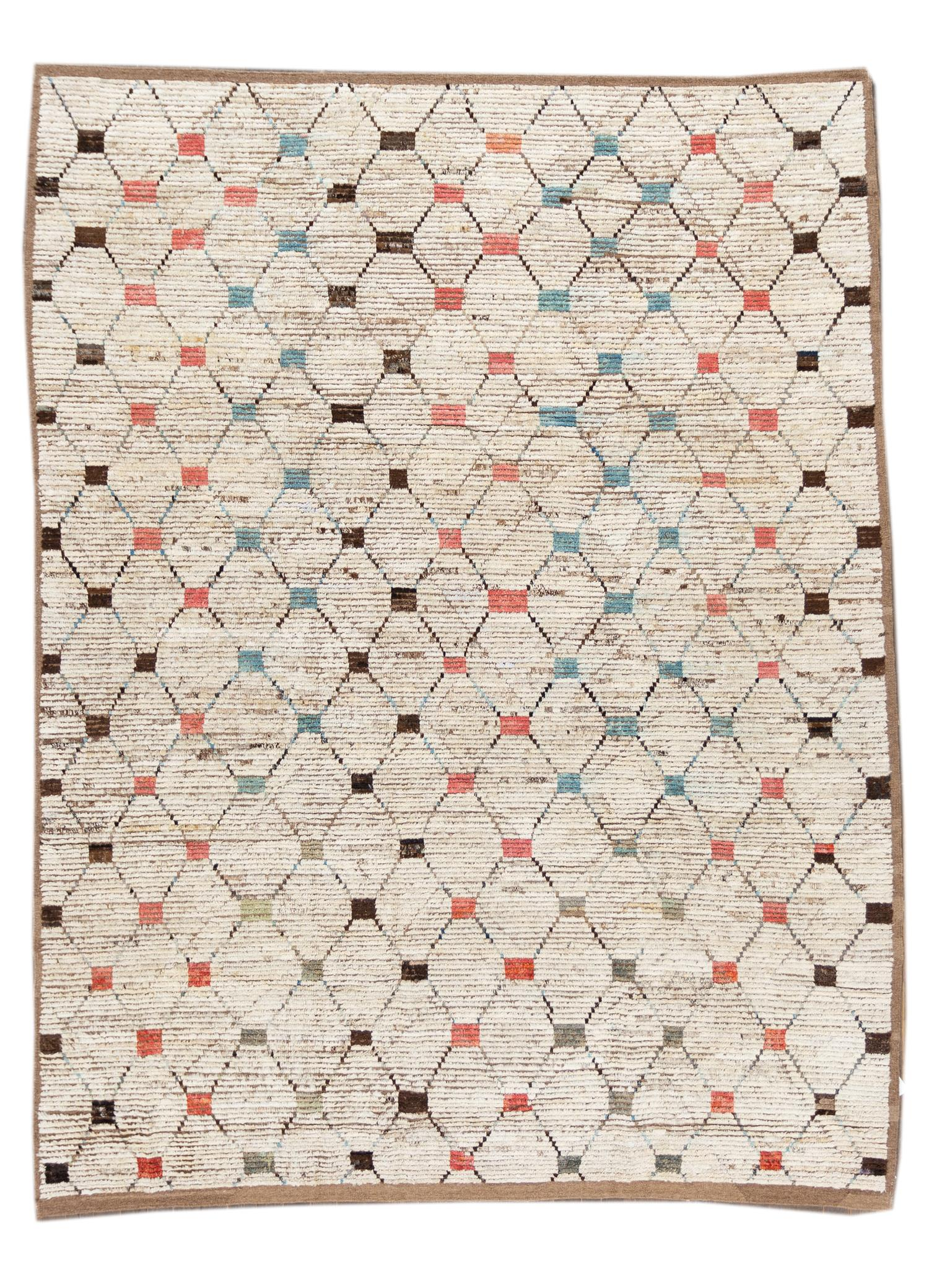 21st Century Modern Moroccan-style Rug, 9' x 11'