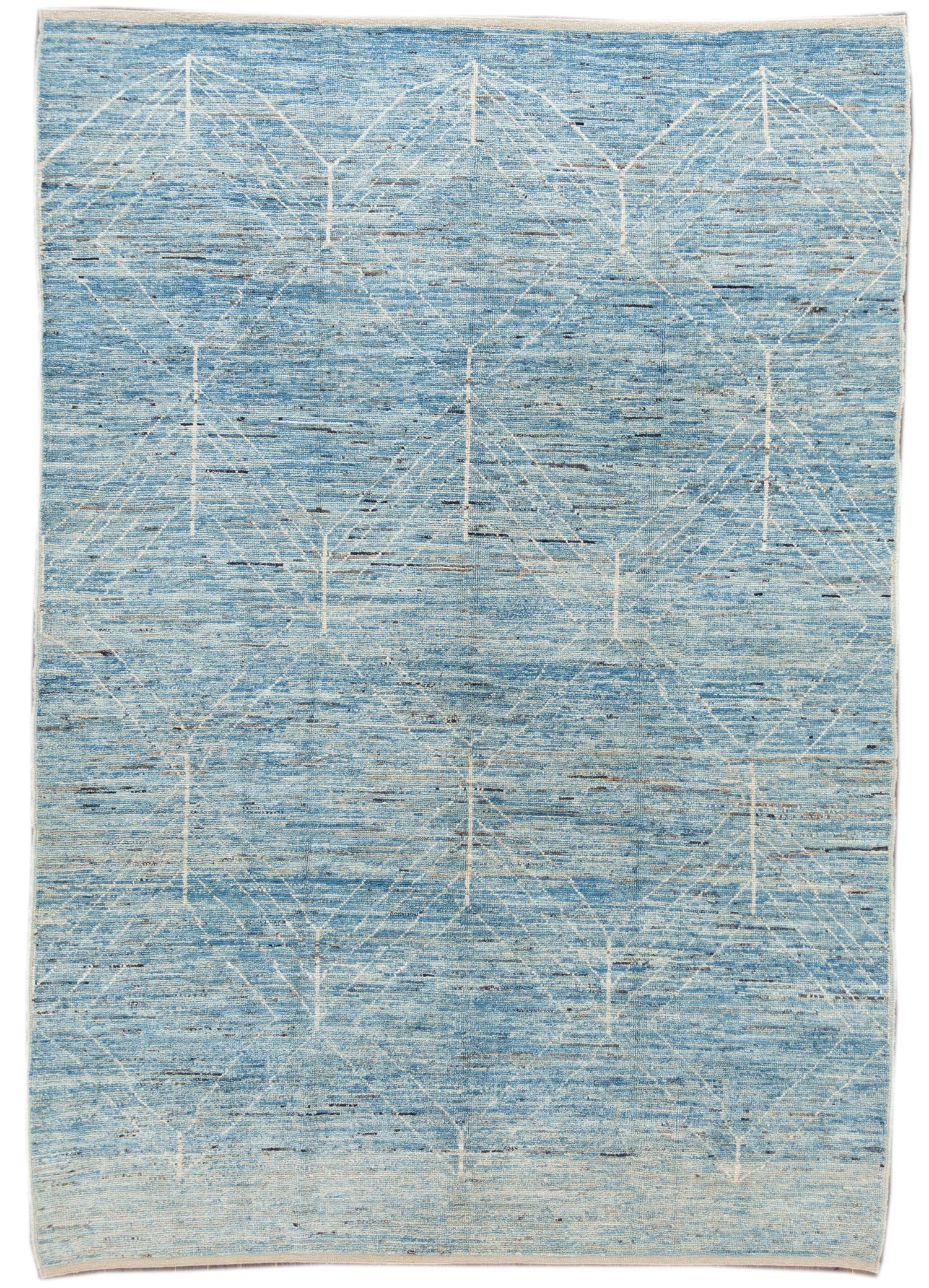 21st Century Modern Moroccan-Style Rug, 7' x 10'