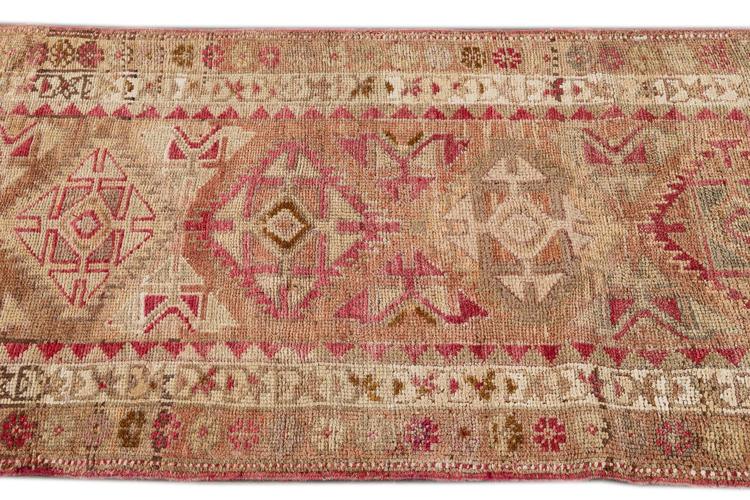 Beautiful Turkish Runner Rug, 3' x 11'