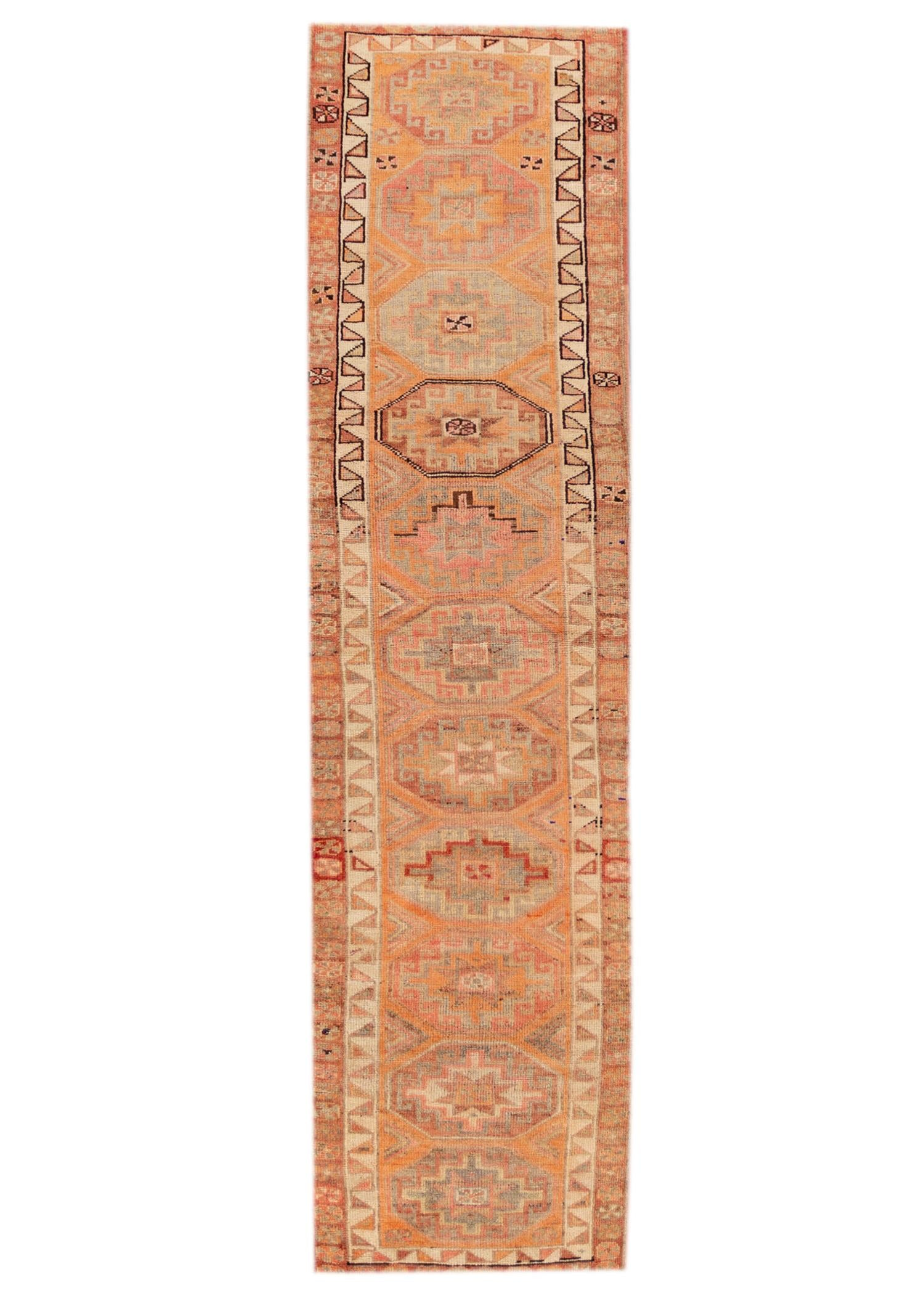 20th Century Vintage Turkish Runner Rug, 3X12