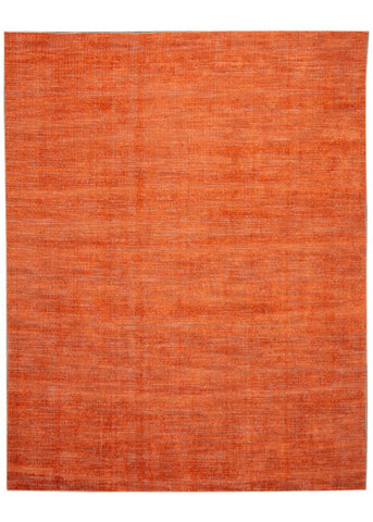21st Century Contemporary Modern Groove Indian Wool Rug 9' x 12'