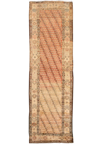 Early 20th Century Antique Persian Heriz Runner Rug 4' x 12'