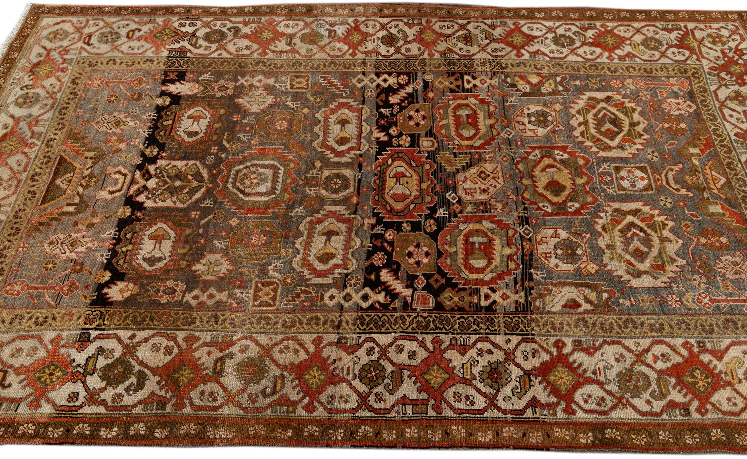 Antique Bidjar Rug,  4' x 7'