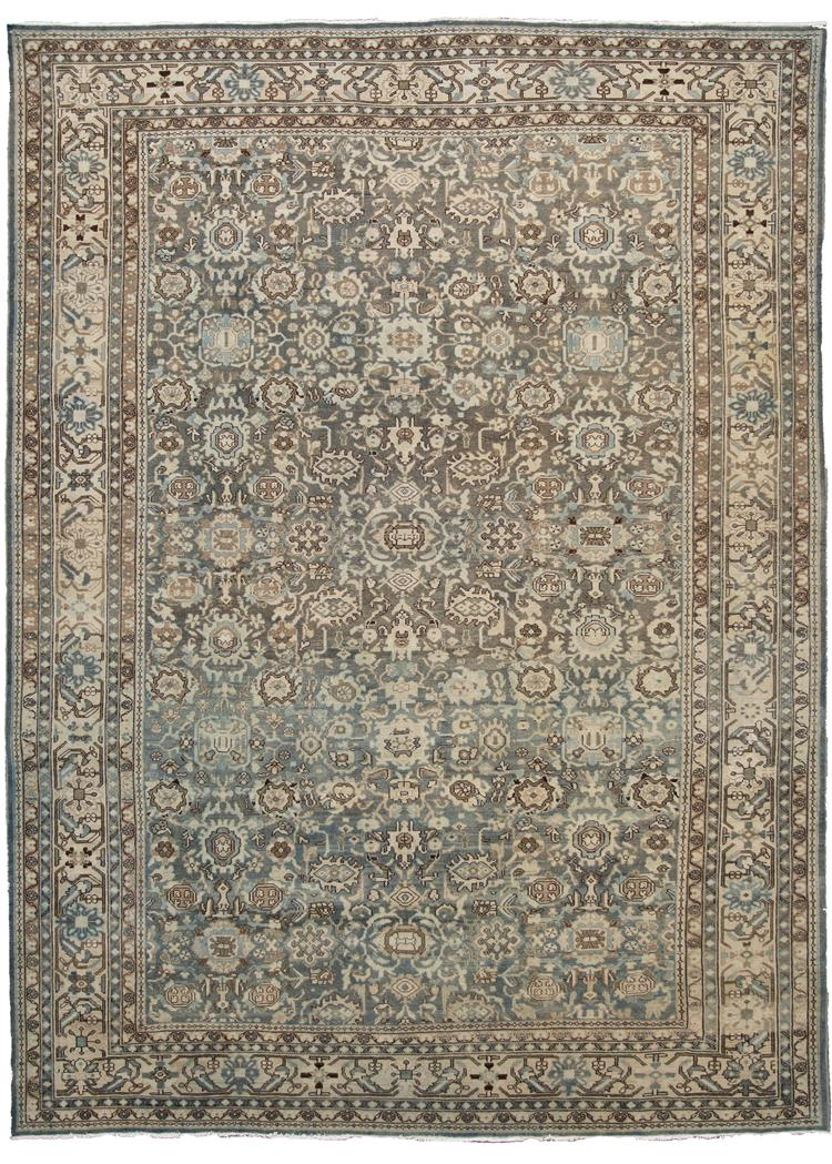Antique Early 20th Century Malayer Rug 9' x 12'