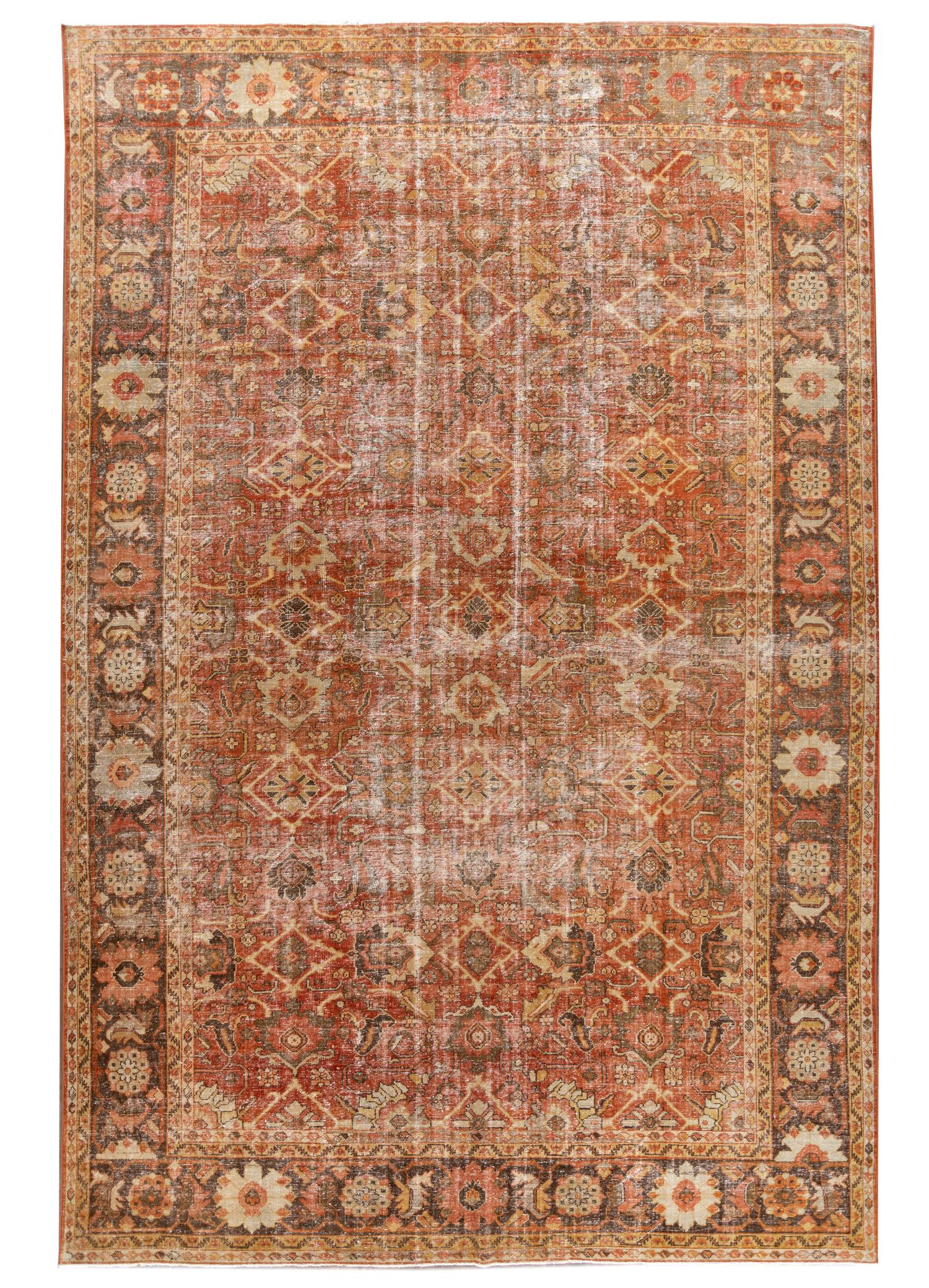 Antique Mahal Rug, #10235249, 11X17