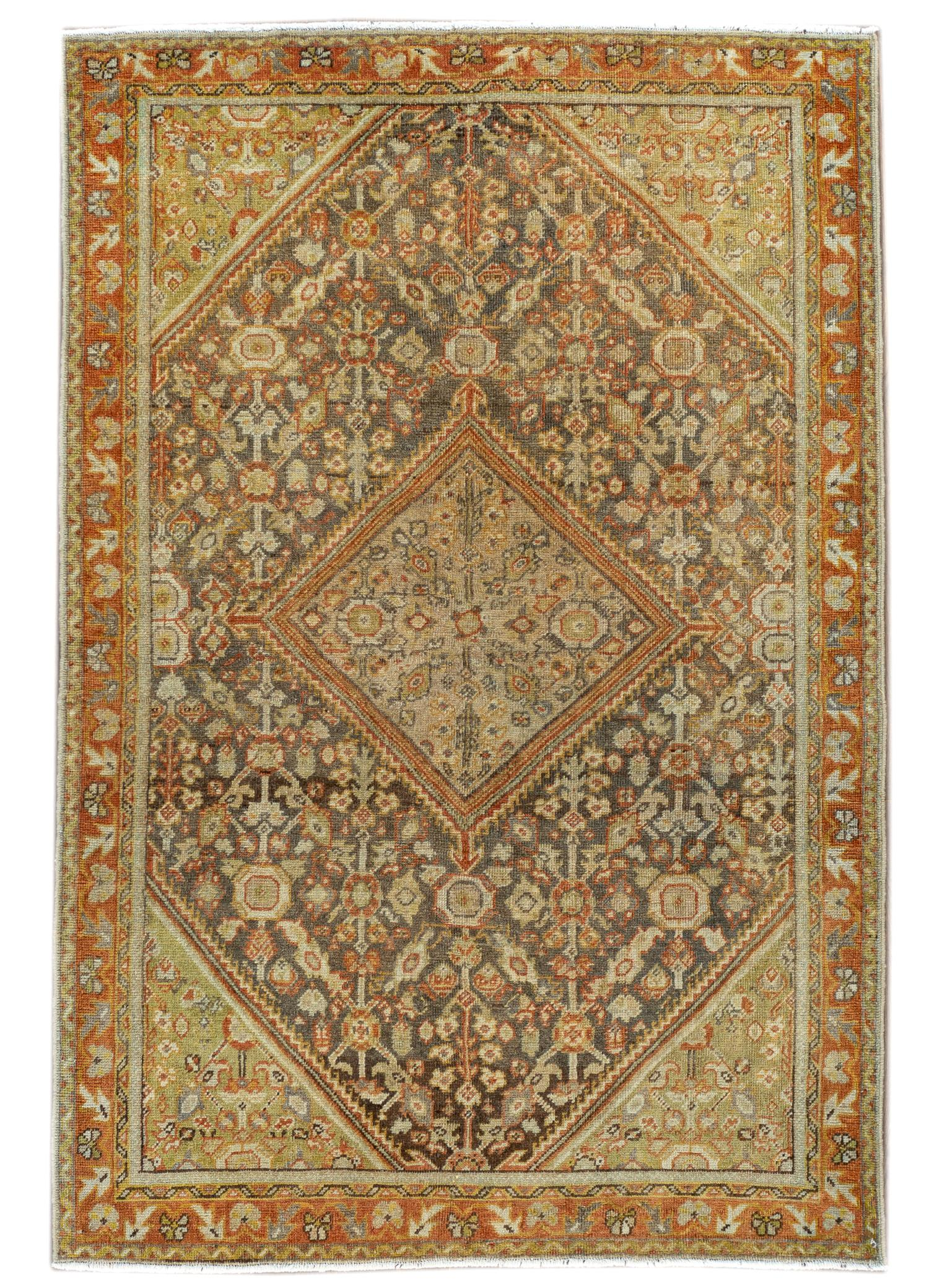 Antique Mahal Rug, #10235264, 5X7