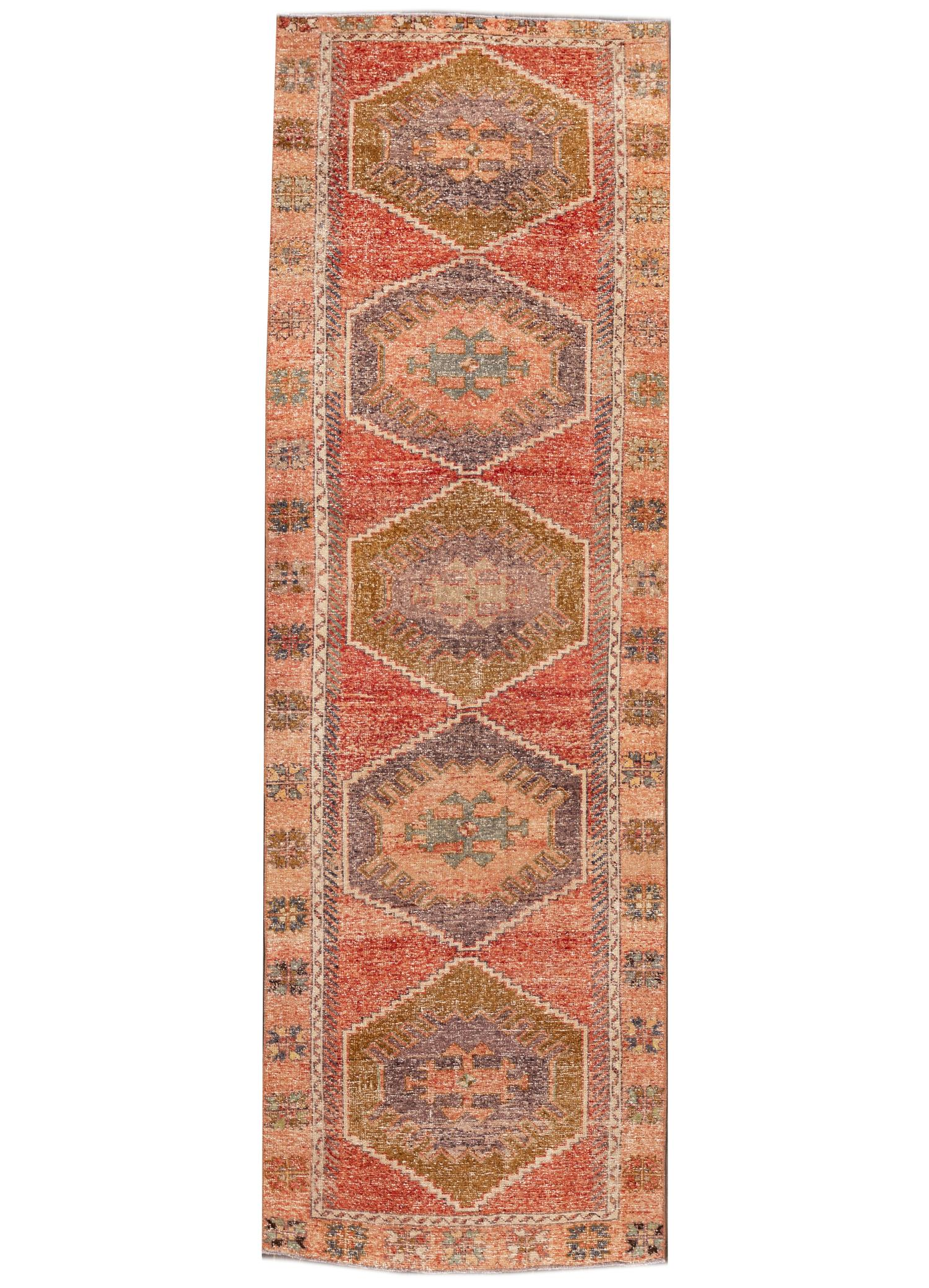 Vintage Turkish Anatolian Runner Rug, 4X12