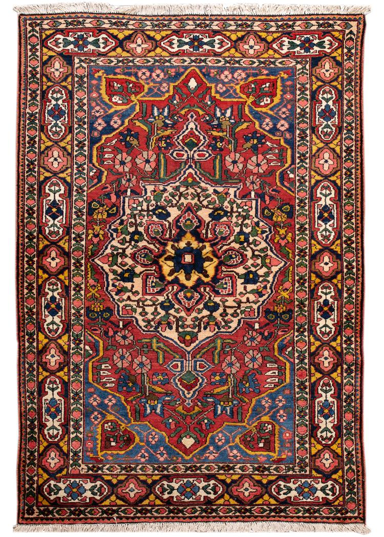 Antique Early 20th Century Bakhtiari Rug 4' x 6'