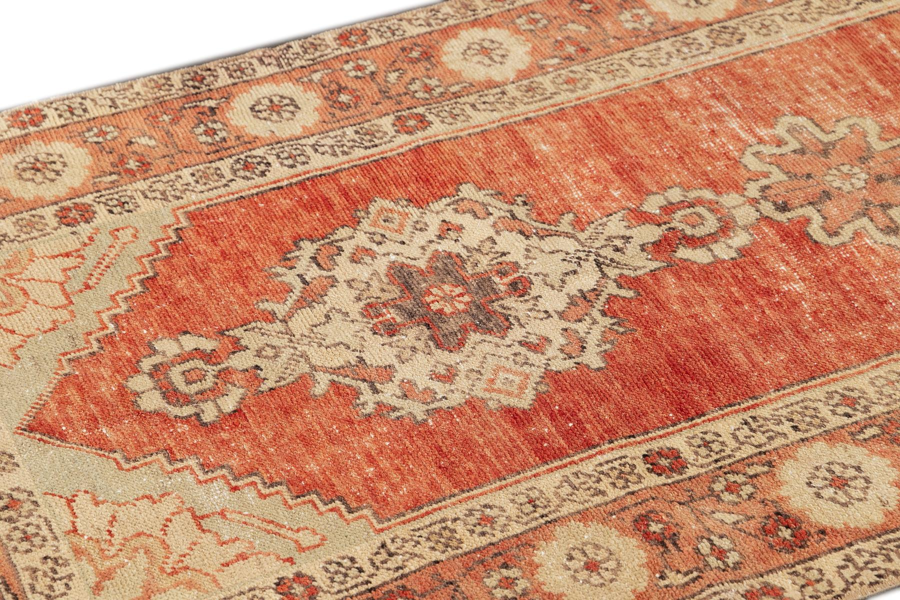 Vintage Turkish Anatolian Runner Rug, 3X10