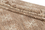 Contemporary Brown and Beige Khotan-Style Wool Area Rug 10' x 14'