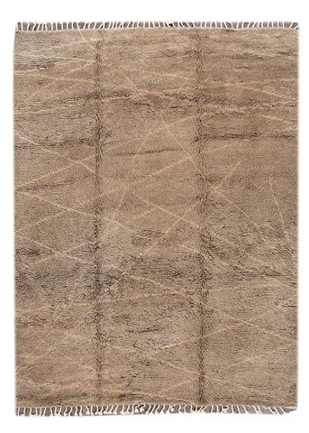 Modern Moroccan-style Rug, 9X12