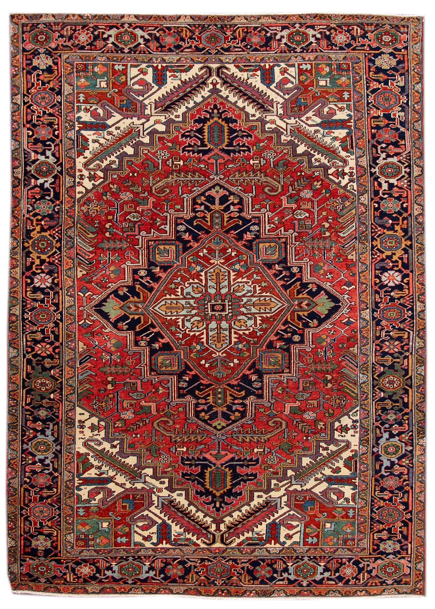 Antique Heriz Rug, 8X11