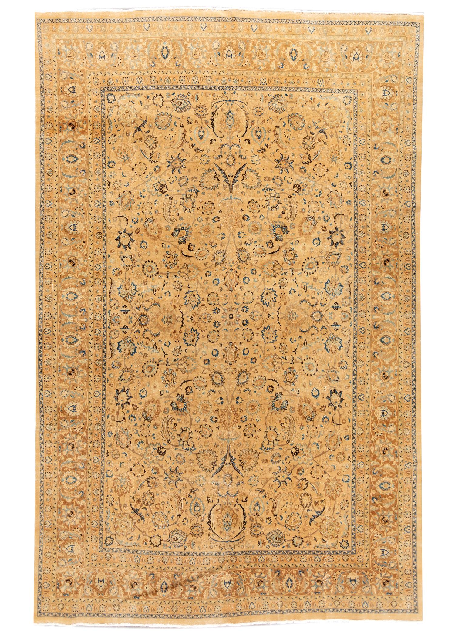 Early 20th Century Antique Tabriz Rug, 11x17