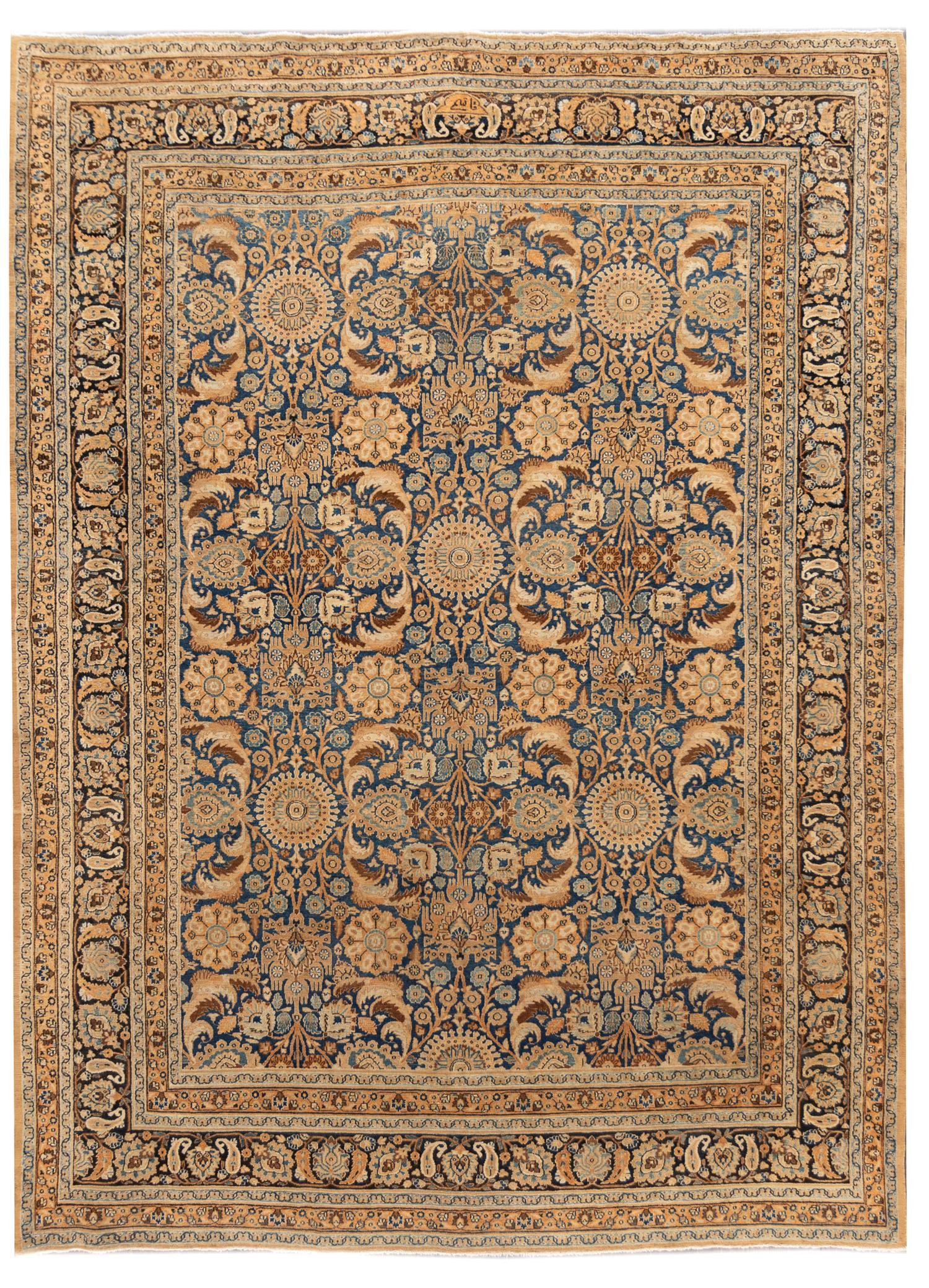 Early 20th Century Antique Persian Tabriz Rug, 10x13