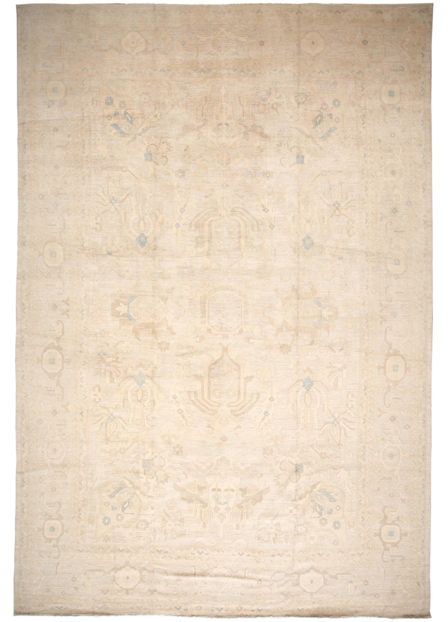 Contemporary Oushak Rug, 12' X 18'