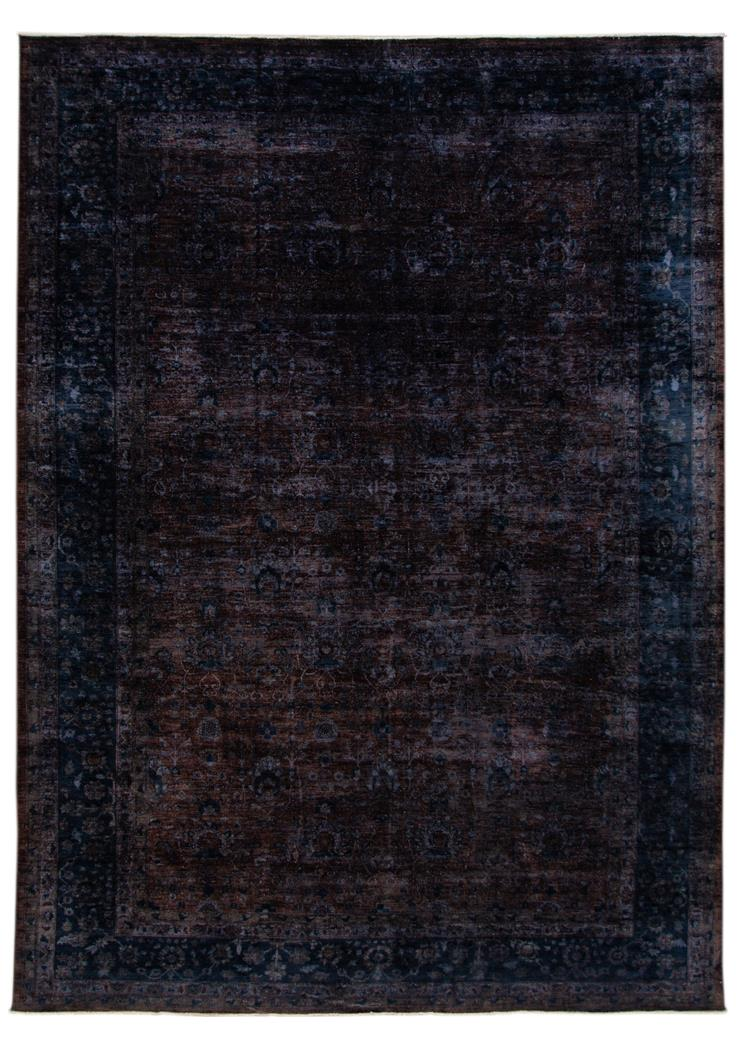 21st Century Modern Overdyed Indian Wool Rug 12' x 16'