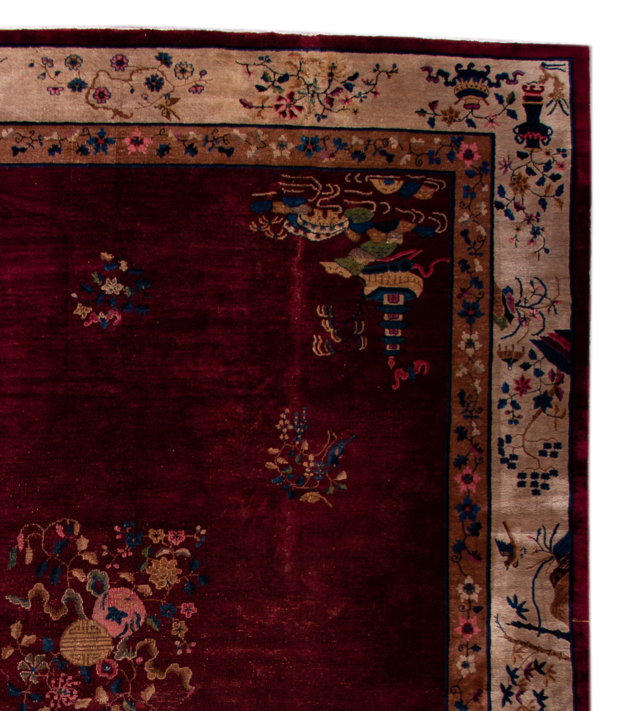 Early 20th Century Antique Chinese Deco Rug