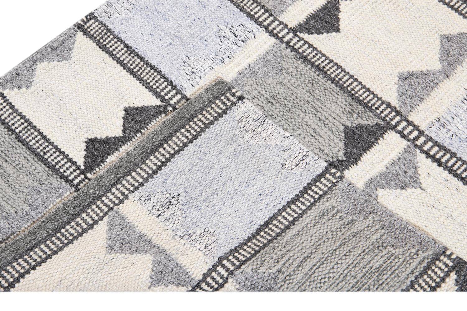Modern Swedish Style Runner Rug, 3' x 10'